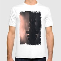Sleeping in the dark Mens Fitted Tee White SMALL