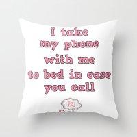 call me! Throw Pillow