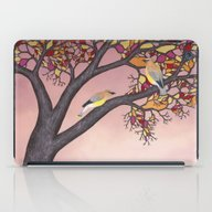 iPad Case featuring Cedar Waxwings On The St… by Sarah Knight