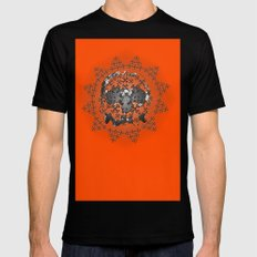 Skull and Crossbones Medallion SMALL Mens Fitted Tee Black