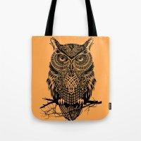 Warrior Owl 2 Tote Bag