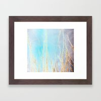 Neon Ocotillo Framed Art Print