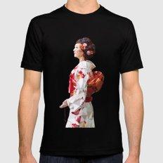 Polygonal Kimono girl 2 SMALL Mens Fitted Tee Black