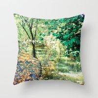Hidden Autumn Creek Throw Pillow
