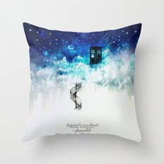 Beyond the clouds | Doctor Who Throw Pillow