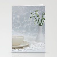 Snowdrops At Teatime Stationery Cards