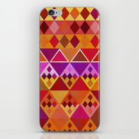 Fire Diamond Pattern iPhone & iPod Skin