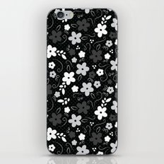 Black & White Floral iPhone & iPod Skin