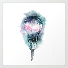 Universe light Art Print