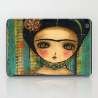 Frida In A Purple And Blue Dress iPad Case