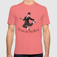 Putin On The Ritz Mens Fitted Tee Pomegranate SMALL