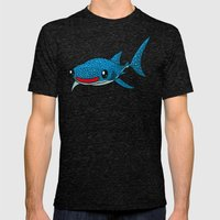 Whale Shark Mens Fitted Tee Tri-Black SMALL