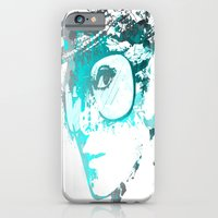 iPhone & iPod Case featuring Audrey splash Cool Blue by D77 The DigArtisT