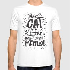 CAT TO BE KITTEN ME Mens Fitted Tee White SMALL