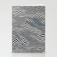 Ocean Of Lines Stationery Cards
