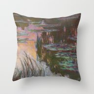 Water Lilies - Setting S… Throw Pillow