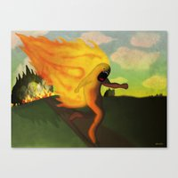 Corriendo Canvas Print