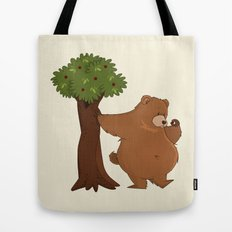 Bear and Madrono Tote Bag