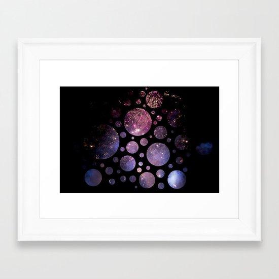 Abstract Fireworks #1 Framed Art Print
