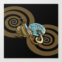 Abalone With Historic Ma… Canvas Print