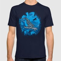 Abyss 2099 Mens Fitted Tee Navy SMALL