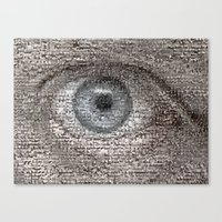 Canvas Print featuring Eye by Misha Dontsov