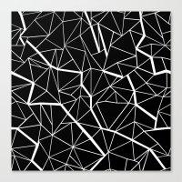 Ab Outline Mod Canvas Print