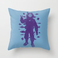 peace under water Throw Pillow