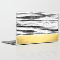 Blaire - Brushed Gold St… Laptop & iPad Skin