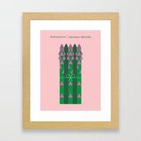 Vegetable: Asparagus Framed Art Print