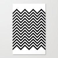Black Lodge Zig Zag Canvas Print