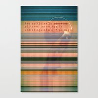 Glitch Magic Canvas Print