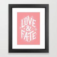 Love & Fate Framed Art Print
