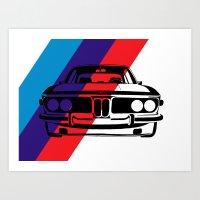 BMW E9 Art Print