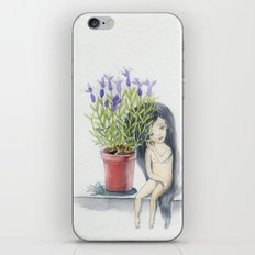 listening to the lavender's breath iPhone & iPod Skin