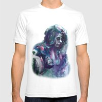 Melancholy Mood Portrait Mens Fitted Tee White SMALL