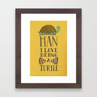 Being A Turtle Framed Art Print