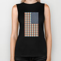 Plaid Flag. Biker Tank