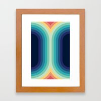 Retro Smooth 001 Framed Art Print