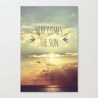 Here Comes The Sun Canvas Print