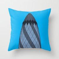 London Town - The Gherkin Throw Pillow