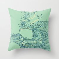 Ocean Breath Throw Pillow