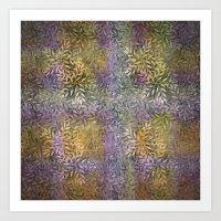 leafy pastel Art Print