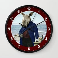Mr. Rhino's Day At The B… Wall Clock