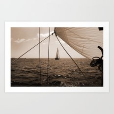 Framed in Our Lines Art Print