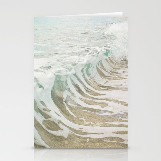Sea Foam Stationery Card