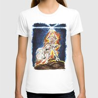 STAR WARS: A New Hope Watercolor Womens Fitted Tee White SMALL