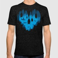 Bats Love Caves Mens Fitted Tee Tri-Black SMALL