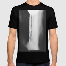 Black Waterfall Mens Fitted Tee Black SMALL
