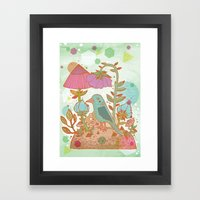 The Blue Bird Framed Art Print